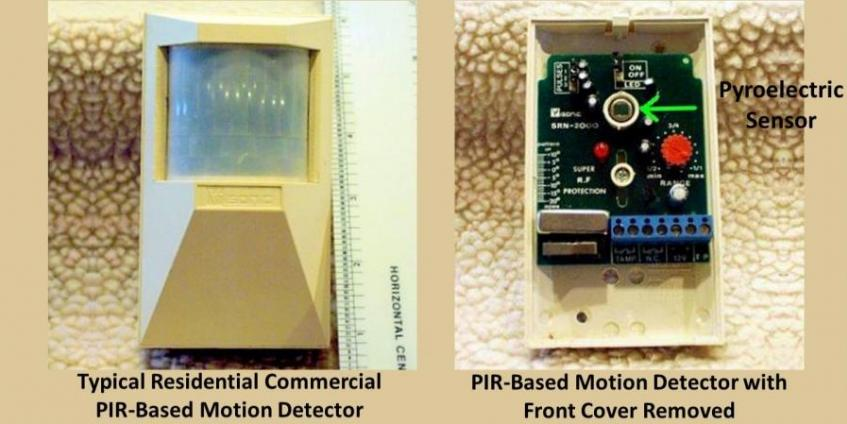 Typical Passive Infrared (PIR) Based Commercial Motion Detector (source: Wikipedia)
