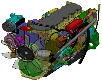 Figure 9: Detailed Cougar Engine Model.