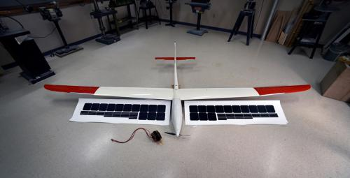 Figure 3: COTS Glider With Monocrystalline Silicon Photovoltaic Cells (NRL Photo).