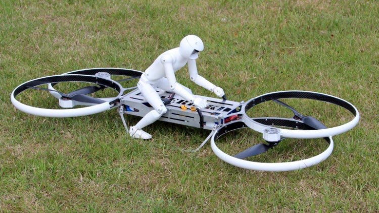 Figure 12: Hoverbike Scale Model With Video Camera Installed.