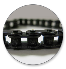 Figure 5: Assembled Chain Printed With Polyjet Technology.
