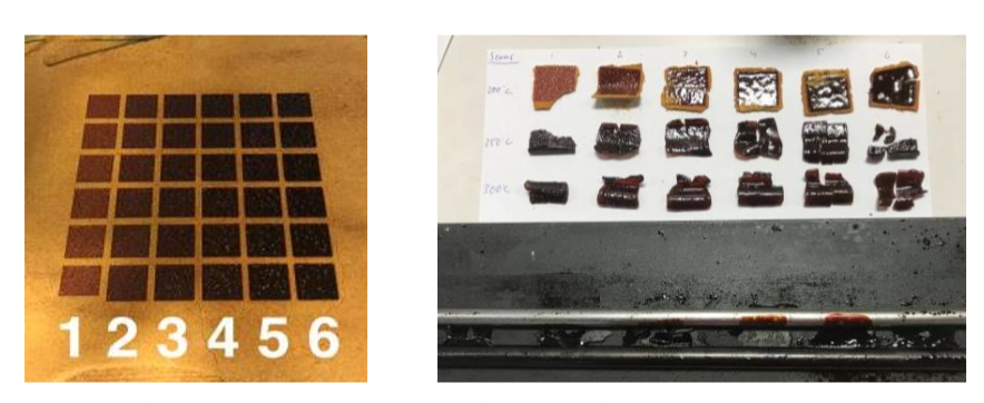 Figure 3: Puddle Formation During Postprocessing Neat Polyimide Resin After Laser Consolidation (Source: AFRL).