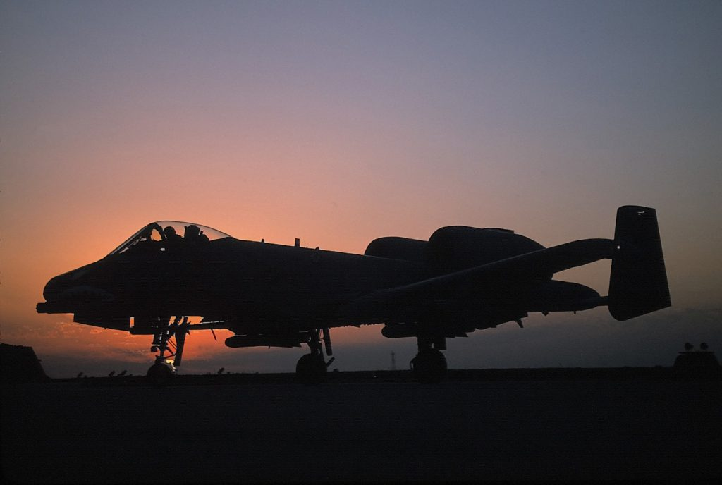 The A-10 Thunderbolt II is the first Air Force aircraft specially designed for close air support of ground forces (U.S. Air Force photo by Senior Airman Greg L. Davis).